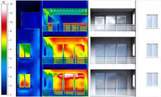 infrared camera heat loss building graphic warm cool colours barrier sciences group ontario