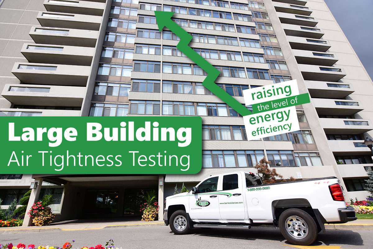 Large Building Air Tightness Testing