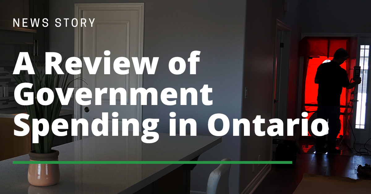 A Review of Government Spending in Ontario