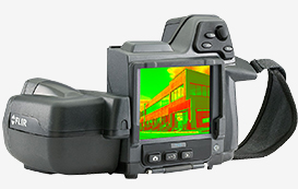 building inspectors scanning infrared video air leakage